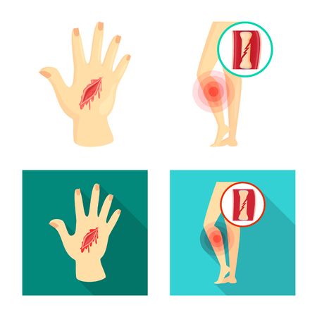 Isolated object of hospital and rendering icon. Set of hospital and help stock vector illustration.