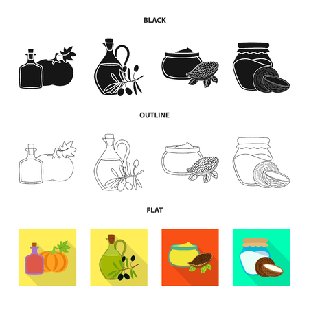Isolated object of healthy  and vegetable. Set of healthy  and agriculture vector icon for stock.