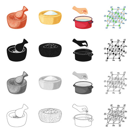 Isolated object of cooking and sea icon. Set of cooking and baking   stock symbol for web.