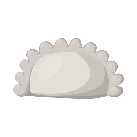 Vector illustration of pierogi and Russian icon. Collection of pierogi and breakfast  stock symbol for web.