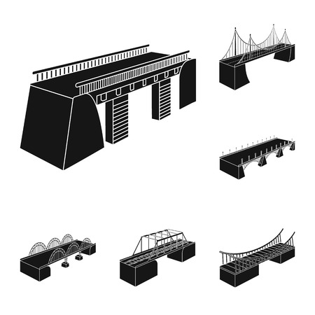 Isolated object of construct and side symbol. Set of construct and architecture stock symbol for web. Illustration
