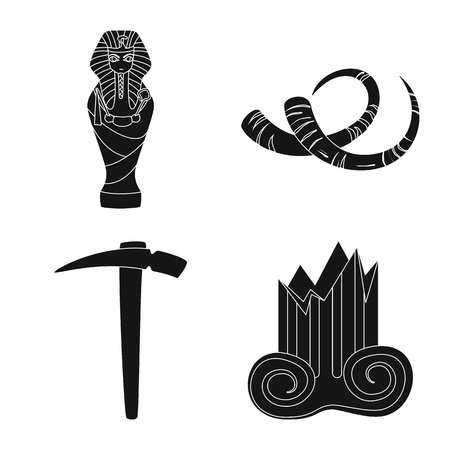 Isolated object of museum and attributes. Collection of museum and historical vector icon for stock.