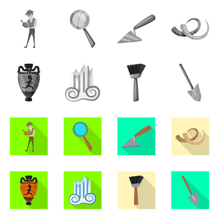 Vector design of story and items sign. Set of story and attributes  vector icon for stock.