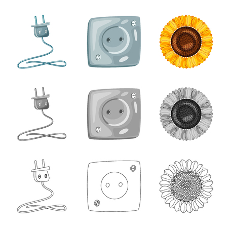 Isolated object of innovation and technology  icon. Set of innovation and nature  stock symbol for web. Ilustrace