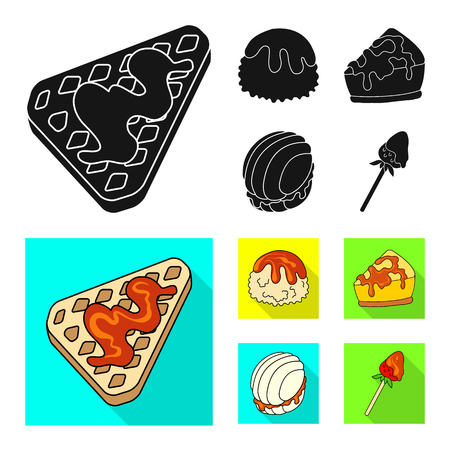 Vector illustration of confectionery and culinary icon. Set of confectionery and product stock symbol for web.