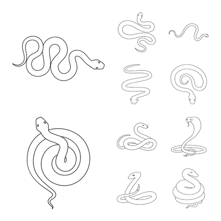 Vector illustration of poison and evil logo. Set of poison and bite stock symbol for web. Illustration