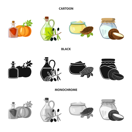 Vector design of healthy  and vegetable  icon. Set of healthy  and agriculture vector icon for stock. 일러스트