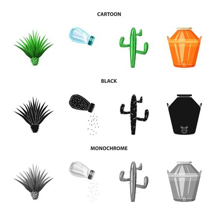 Isolated object of cafe and Latin. Collection of cafe and national stock vector illustration.