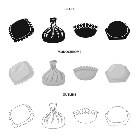 Isolated object of products  and cooking. Collection of products  and appetizer vector icon for stock.