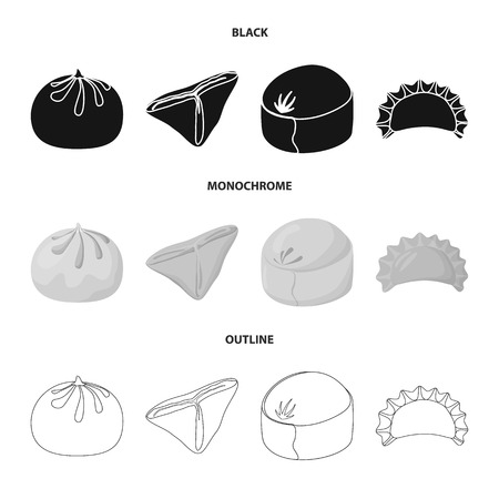 Vector design of products  and cooking icon. Set of products  and appetizer vector icon for stock. Illustration
