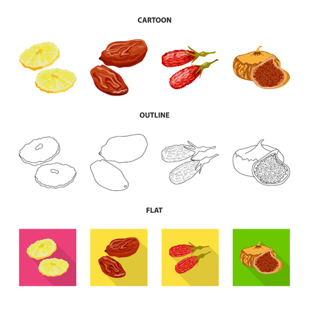 Isolated object of food  and raw  symbol. Set of food  and nature   vector icon for stock. Stok Fotoğraf - 119513518