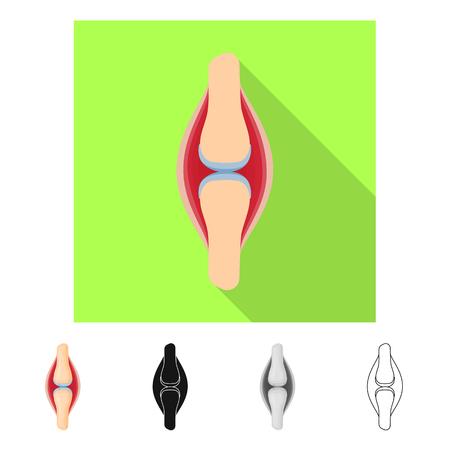 Vector illustration of biology and scientific sign. Set of biology and laboratory stock vector illustration. Banco de Imagens - 124255207
