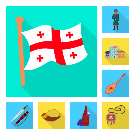 Vector design of culture and sightseeing symbol. Collection of culture and originality vector icon for stock.