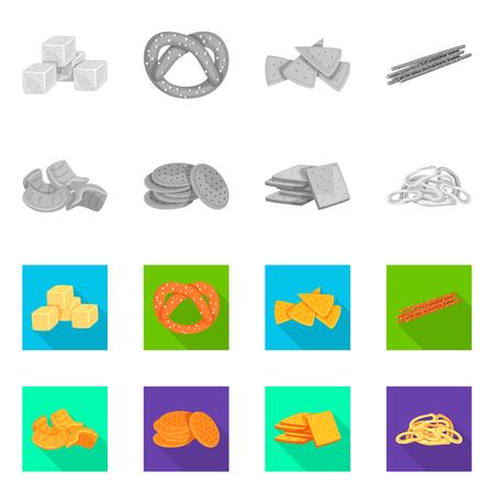Vector illustration of Oktoberfest and bar logo. Set of Oktoberfest and cooking stock symbol for web.