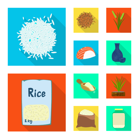 Vector illustration of raw and agricultural icon. Collection of raw and ecological vector icon for stock.