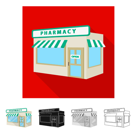 Vector illustration of retail and healthcare sign. Collection of retail and wellness stock symbol for web.