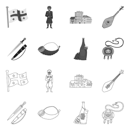Isolated object of culture and sightseeing icon. Set of culture and originality vector icon for stock.