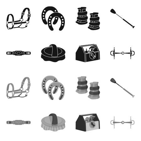 Illustrazione vettoriale di attrezzature e segno di guida. Raccolta di attrezzature e illustrazione vettoriali stock concorrenza. Vettoriali