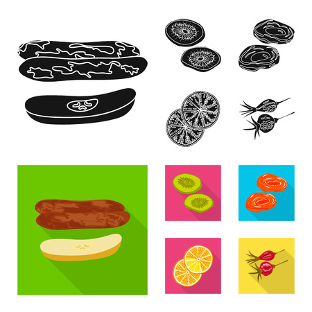 Isolated object of food  and raw  sign. Collection of food  and nature   stock symbol for web. Illustration