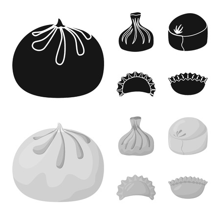Vector illustration of products  and cooking logo. Set of products  and appetizer vector icon for stock.