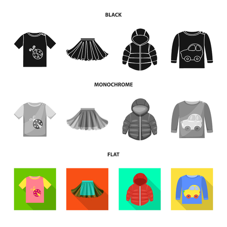 Isolated object of fashion and garment symbol. Set of fashion and cotton vector icon for stock. 矢量图像