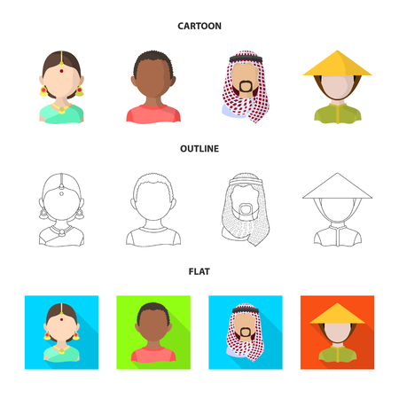 Vector design of imitator and resident icon. Collection of imitator and culture stock symbol for web.