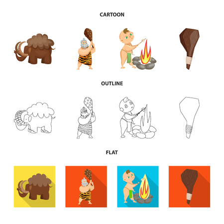 Vector design of evolution  and prehistory icon. Collection of evolution  and development  vector icon for stock.