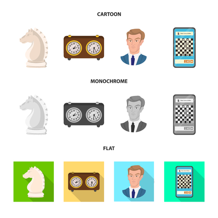 Vector design of checkmate and thin symbol. Collection of checkmate and target vector icon for stock. Иллюстрация