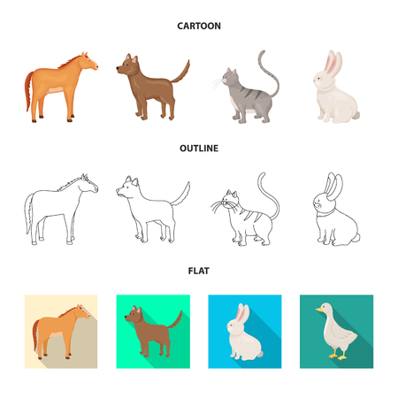 Vector illustration of breeding and kitchen  logo. Set of breeding and organic  stock vector illustration. Illustration