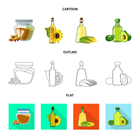 Vector design of healthy and vegetable icon. Collection of healthy and agriculture stock symbol for web. Vector Illustration