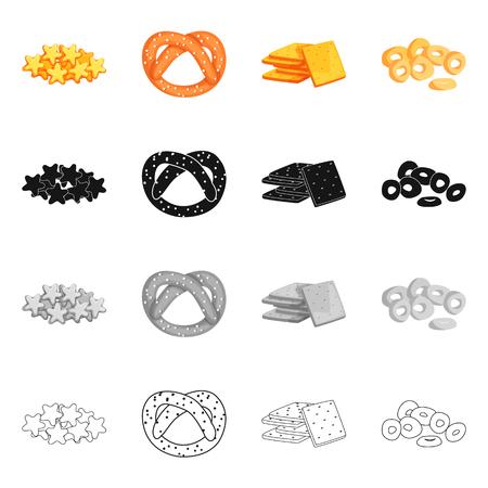 Vector design of Oktoberfest and bar sign. Set of Oktoberfest and cooking stock vector illustration. Ilustração