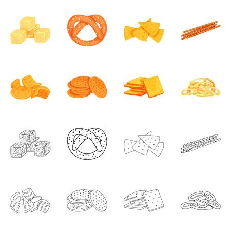 Vector illustration of Oktoberfest and bar logo. Set of Oktoberfest and cooking vector icon for stock.