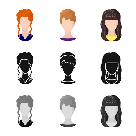 Vector design of professional and photo icon. Collection of professional and profile stock vector illustration.