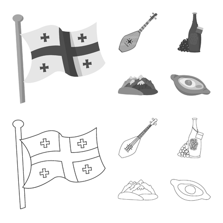 Vector design of culture and sightseeing icon. Collection of culture and originality stock symbol for web.