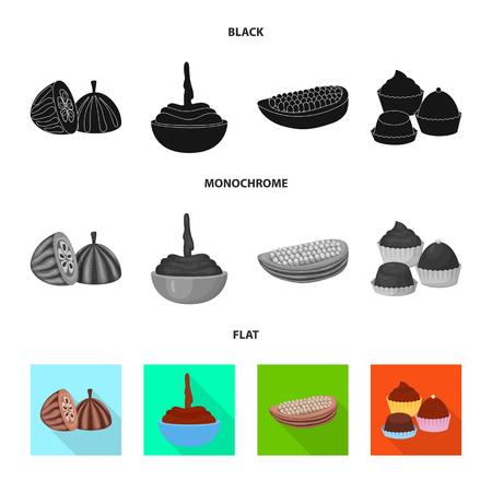 Vector illustration of food and yummy logo. Collection of food and brown   stock vector illustration. Standard-Bild - 119702606