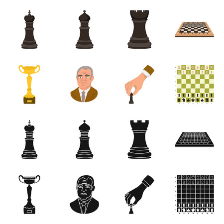 Vector design of checkmate and thin icon. Collection of checkmate and target stock vector illustration.