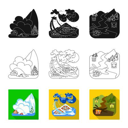 Objet isolé du signe météorologique et de détresse. Collection d'illustration vectorielle stock météo et crash.