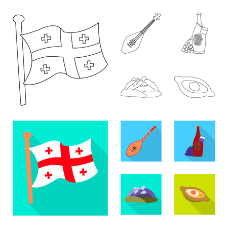 Isolated object of culture and sightseeing sign. Collection of culture and originality vector icon for stock. Vektorové ilustrace