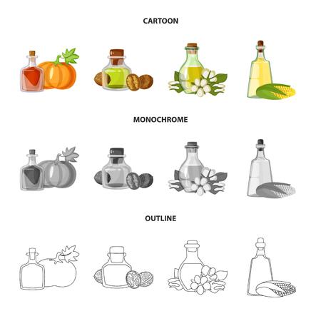 Vector illustration of healthy  and vegetable  icon. Set of healthy  and agriculture vector icon for stock. Reklamní fotografie - 119780671