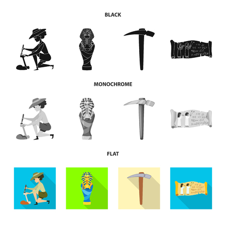 Isolated object of story and items icon. Set of story and attributes  stock symbol for web.