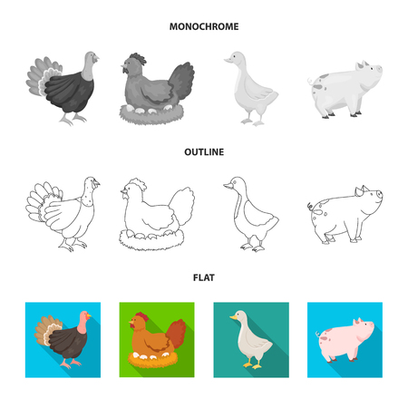 Vector illustration of breeding and kitchen  sign. Set of breeding and organic  vector icon for stock.