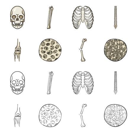 Disegno vettoriale di medicina e clinica. Raccolta di medicina e simbolo di borsa medica per il web. Vettoriali