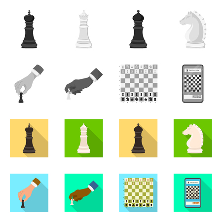 Vector design of checkmate and thin logo. Collection of checkmate and target vector icon for stock. Logo