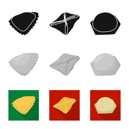 Vector design of products  and cooking sign. Collection of products  and appetizer vector icon for stock.