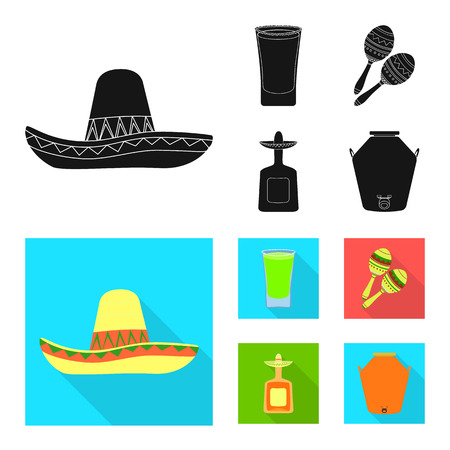 Isolated object of cafe and Latin sign. Set of cafe and national stock vector illustration. Illustration