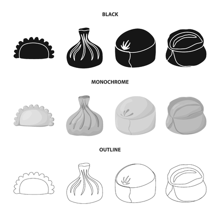 Vector illustration of products  and cooking. Set of products  and appetizer stock symbol for web. Banque d'images - 119850702