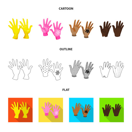 Vector illustration of silhouette and safety sign. Collection of silhouette and comfort vector icon for stock. Vettoriali