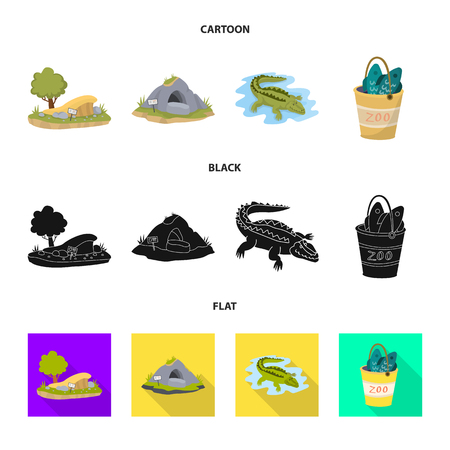 Isolated object of nature  and fun  icon. Collection of nature  and entertainment stock symbol for web. Illustration