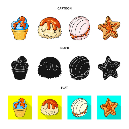 Isolated object of confectionery and culinary logo. Set of confectionery and product vector icon for stock.