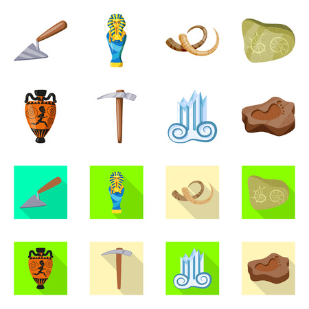 Vector illustration of story and items symbol. Set of story and attributes  vector icon for stock.
